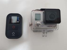 Gopro Hero 3 Silver + , Controle, 3 Baterias, Acessórios, Le