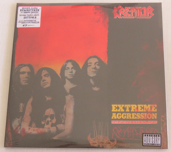 Kreator Extreme Aggression 3 Lp Importado 180 Grs + 14 Bonus