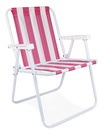 Cadeira Aluminio Camping E Praia Várias Cores 2101/2226 Mor