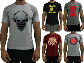 Kit 5 Camiseta Moda Masculina Original T-shirt Fitness Ragla
