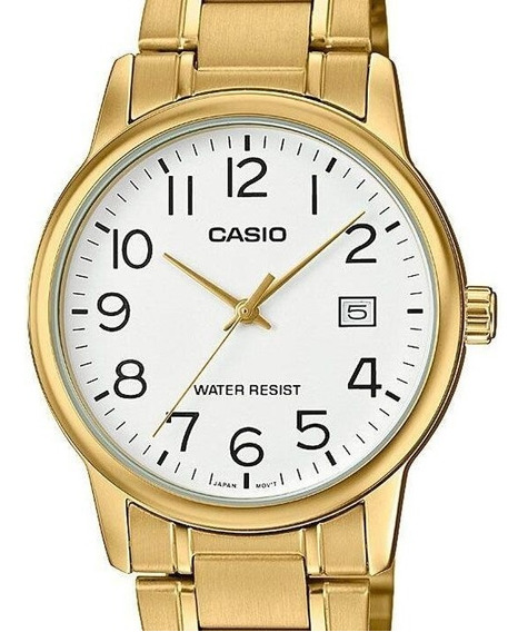 Relógio Casio Masculino Collection Dourado Mtp-v002g-7b2udf