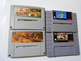 Lote 4 Juegos Super Nintendo Super Famicom Snes