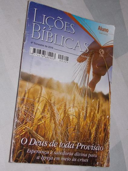 Revista Lições Bíblicas 4º Bimestre De 2016