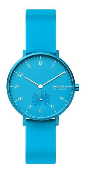 Reloj Unisex Skagen Aaren Kulor Neon Skw2818 Color Celeste