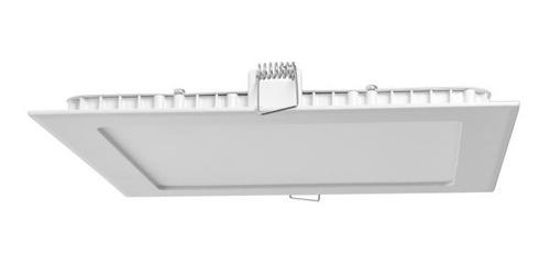 Imagen 1 de 6 de Panel Led De Embutir Cuadrado Blanco 18w Interelec