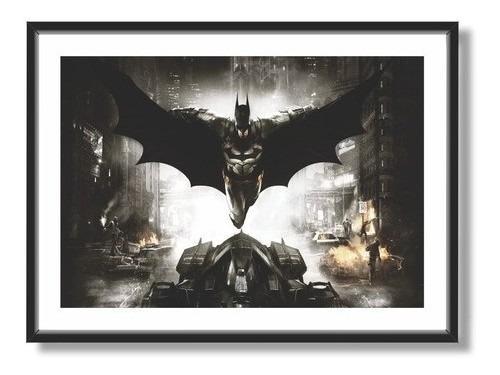 Imagem 1 de 5 de Quadro Batman 50x30 Cm C/ Moldura E Vidro