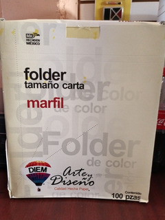 Paquete De 500 Folder Crema Carta
