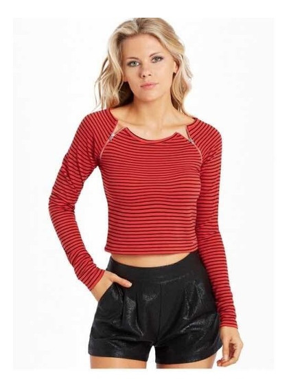 Remera Mujer Crop Top Guess Talle Large
