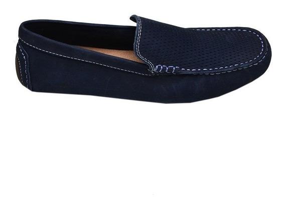 Sapato Masculino Mocassim West Coast Azul Marinho