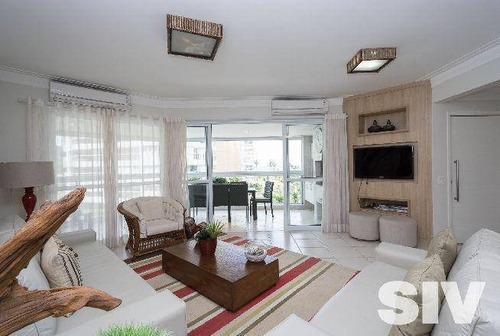Apartamento Com 4 Dormitórios À Venda, 192 M² Por R$ 3.450.000,00 - Riviera - Módulo 7 - Bertioga/sp - Ap1045