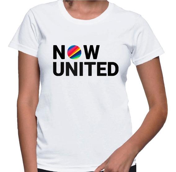 Camiseta Feminina Baby Look Now United Banda Grupo Tshirt