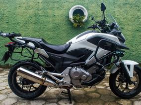Honda Nc700x Std 2013 Branca De Viagem Ñ Cb500x Nc750x