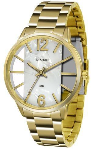 Relógio Feminino Lince Dourado Lrg608l-b2kx