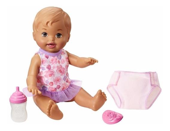 Little Mommy - Bebê Faz Xixi - Morena - Mattel - Original