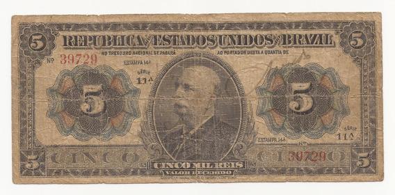Cédula Brasil 5.000 Réis R095