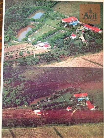 Sítio Com 3 Dormitórios À Venda, 24200 M² Por R$ 2.200.000 - Éden - Sorocaba/sp - Si0002