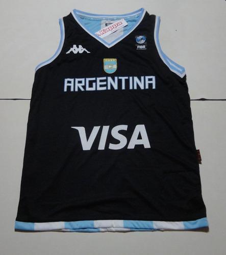 profundo Agua con gas Aceptado  Camiseta De Argentina Basket Reversible Marca Kappa, Talle S | Mercado Libre