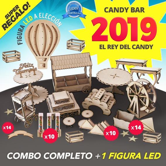 Candy Bar Fibrofacil Candybar + Figura Led De Regalo !!