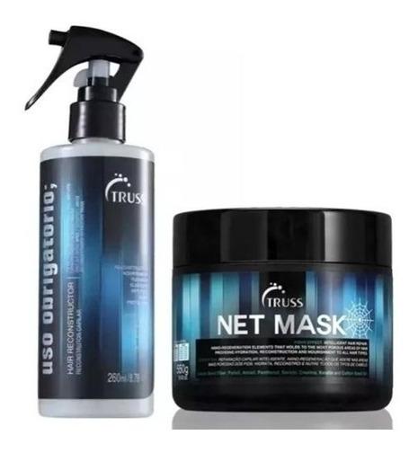 Kit Net Mask 550g + Uso Obrigatório Truss
