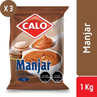 Pack 3 - Calo Bolsa De Manjar 1 Kg
