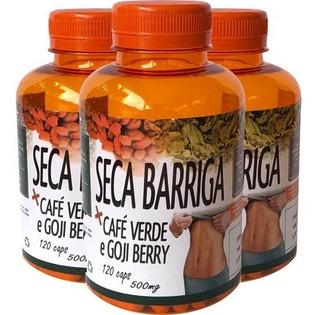 3x Seca Barriga 360 Capsulas Goji Berry Café Verde 500mg