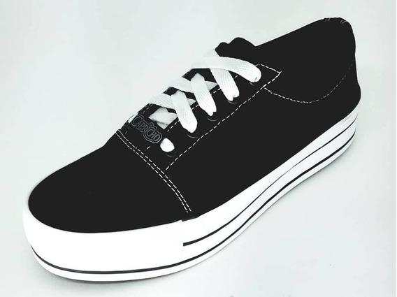 Tenis Capricho Shoes Cp0636 Break Plataform Canvas Em Lona