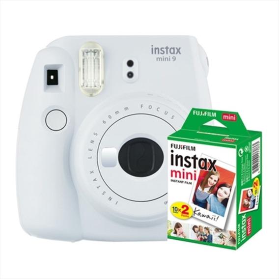 Câmera Instantânea Fuji Instax Mini 9 Branco Gelo + 20 Poses