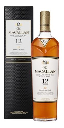 Imagen 1 de 7 de Whisky The Macallan 12 Años Sherry Oak Cask 700ml Estuche