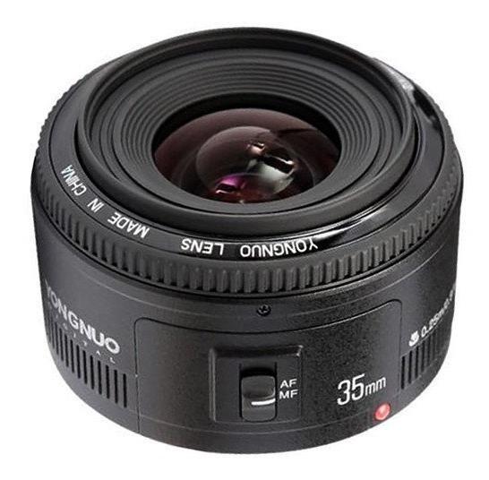 Lente Yongnuo Yn 35mm F/2 Para Canon Autofoco 12x S/juros