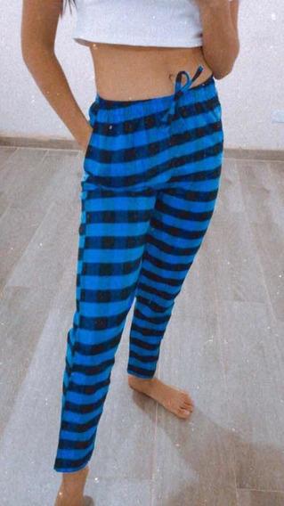Pantalón Pijama Dama Escoses Moda Invierno Pantalón Unisex