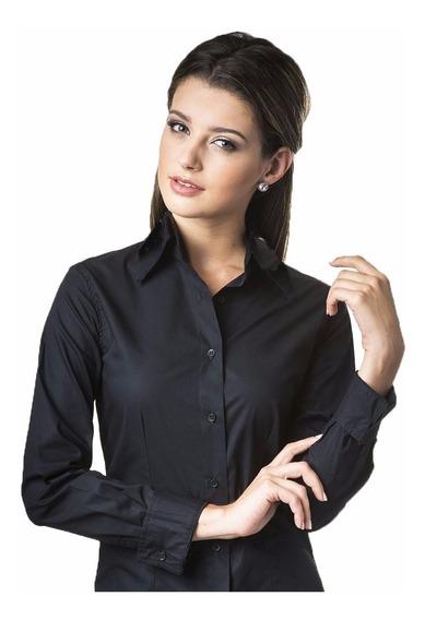 Camisa Social Feminina Promoção Camisete Feminino Kit 4