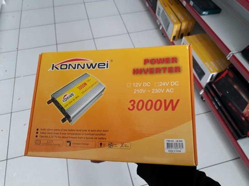 Inversor Konnwei Power Inverter Automotivo 3000w 12v-200v