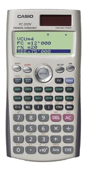 Calculadora Financeira Casio Fc200v Garantia De 4 Anos