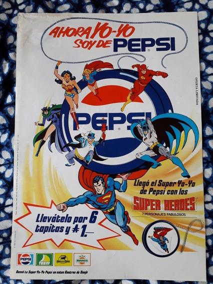 Afiche De Chapitas De Pepsi De Los Super Héroes