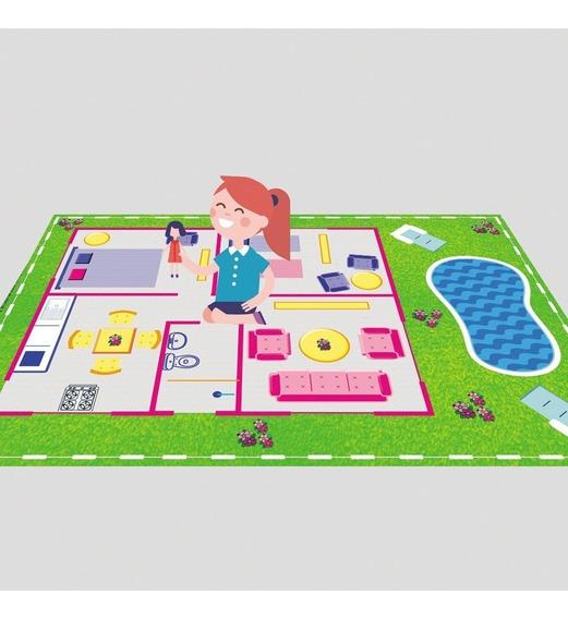 Tapete Infantil Para Brincar De Boneca Casinha Da Barbie