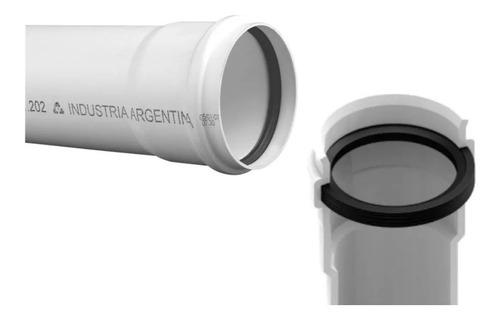 Caño Desague Cloaca 40mm X 3mts Tigre Junta Elastica Oring