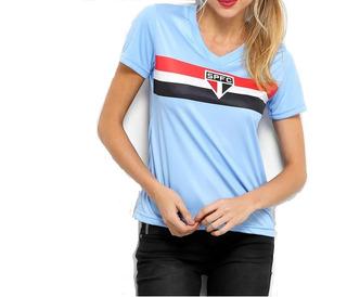 Camisa Sao Paulo Feminina Azul Especial Campeao Tricolor
