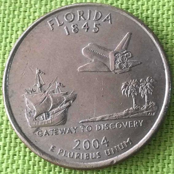 Usa : Quarter Dollar - Estado : Florida - 2004