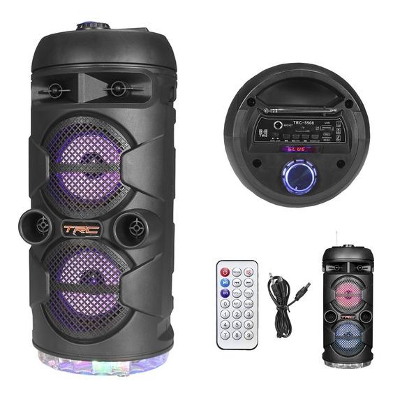 Caixa De Som Amplificada Portátil Bluetooth 80w Trc5508 Biv