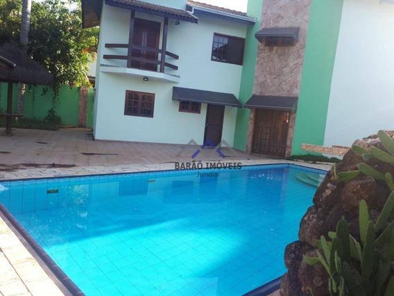 Casa Com 4 Dormitórios Para Alugar Por R$ 5.500/mês - Condomínio Vista Verde, Caxambu - Jundiaí/sp - Ca0309