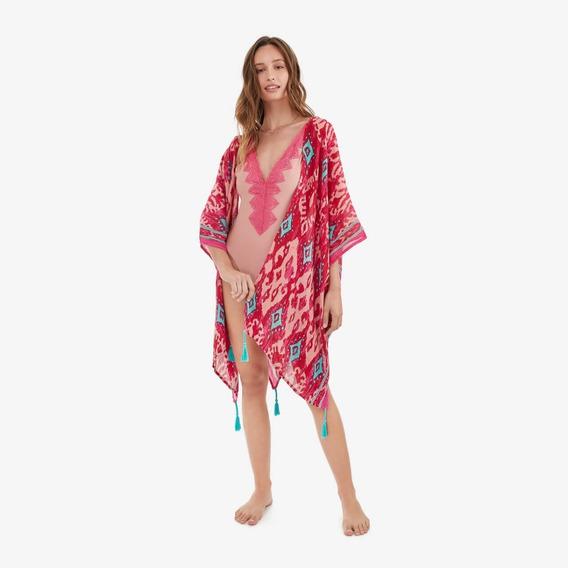 Kimono Rojo Kelly Mujer Lounge