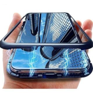 Combo Funda Magnética Vidrio Full Cover Y Cámara Samsung A30