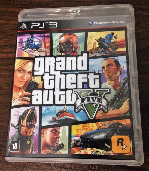 Gta 5 Grand Theft Auto V Ps3 Mídia Física Original Com Mapa