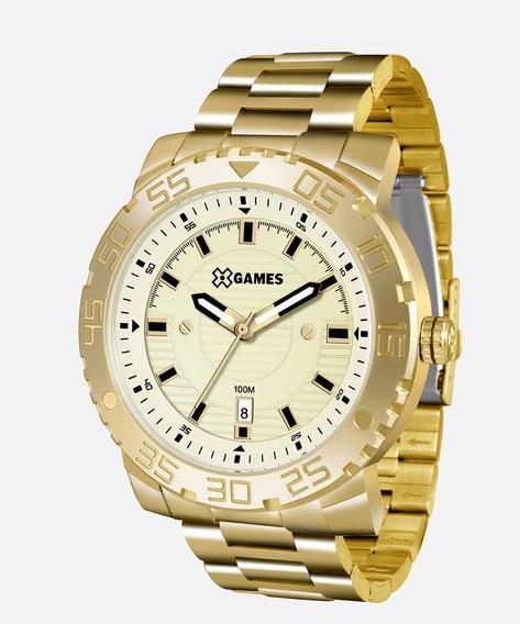 Relógio Xgames Masculino Xmgs1021 C2kx Dourado E Grande