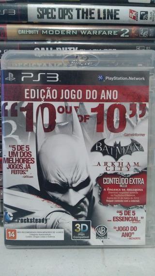Batman Arkhan City Ps3 Mídia Física Usado
