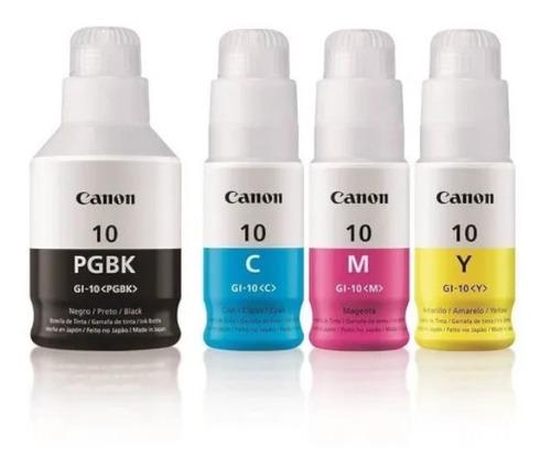 Imagen 1 de 1 de Kit 4 Botellas Tinta Canon Gi-10 Gm2010 3010 4010 5010 6010