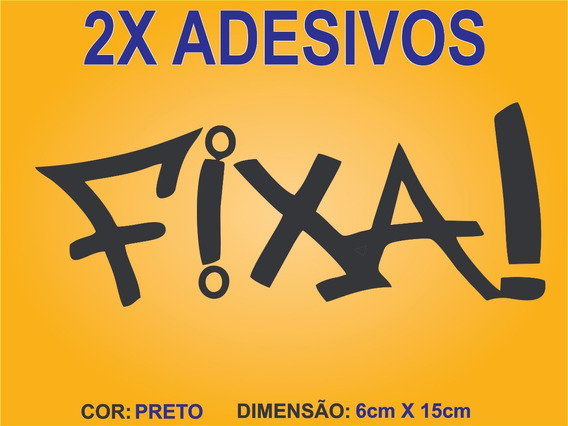 Kit Com 2 Escrita Fixa Para Carro, Moto, Automotivo, Rebaixado, Tuning E Notebook