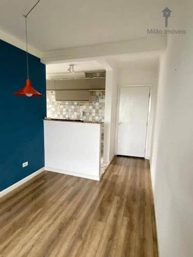Apartamento Com 2 Dormitórios À Venda, 47 M² Por R$ 175.000 - Parque Sicília - Campolim - Votorantim/sp - Ap1493