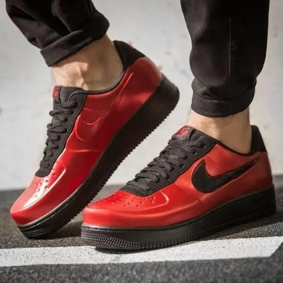 Nike Air Force 1 Low Foamposite Cup Red Versão Limitada