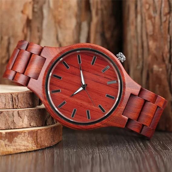 Reloj De Bambú + Madera + Hecho A Mano + Envío Gratis